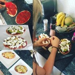 Healthy Pitta Pizza