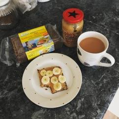 Rye Toast with Peanut butter & Banana