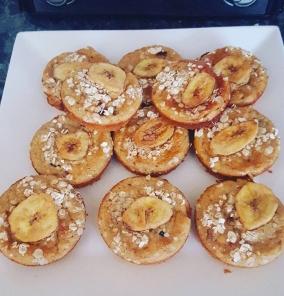 Oaty Banana Cupcakes